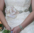 Fabulous beaded belts and sashes featuring silk Mokuba ribbons
